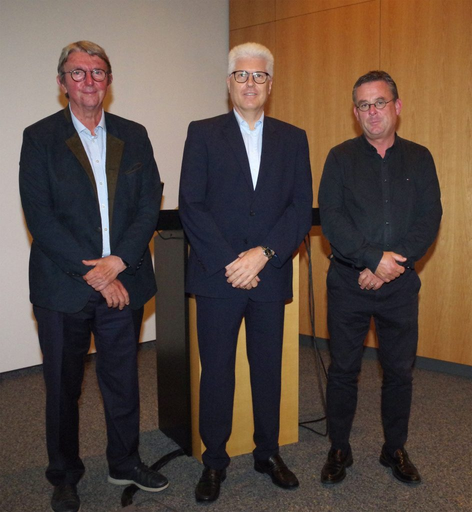 Trio of speakers Wilfried Wagner, Johannes Kleinheinz and Thomas Straumann